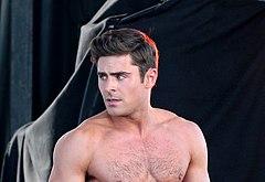 Zac Efron shirtless