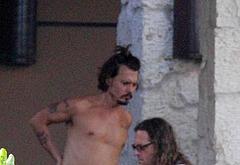 Johnny Depp shirtless beach photos