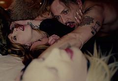 Johnny Depp thresome sex