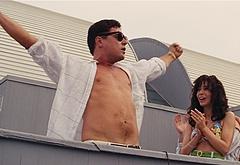 Leonardo DiCaprio shirtless