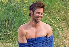 Chris Pine naked male celebrity