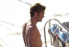 Chris Pine naked outdoors