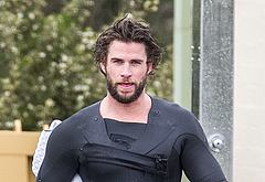If you are interested, liam hemsworth is half naked in
