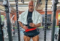 Dwayne Johnson cock selfie