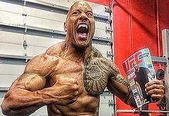 Dwayne Johnson muscle wwe oops
