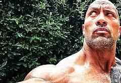 Dwayne Johnson nude selfie