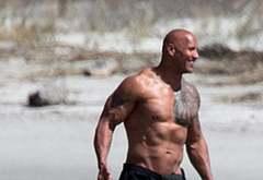 Dwayne Johnson oops shirtless