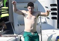 Nick Jonas shirtless