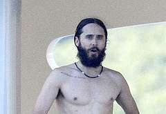 Jared Leto shirtless