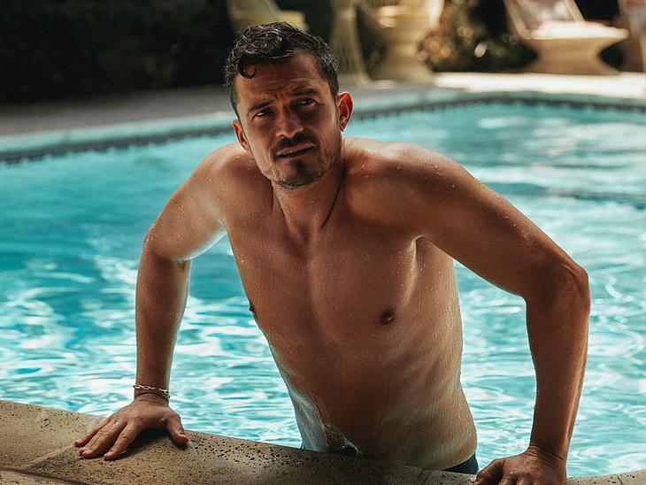 Orlando Bloom jerk off nude