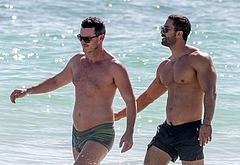 Luke Evans bulge shirtless
