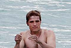 Josh Hutcherson naked on beach