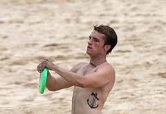 Josh Hutcherson oops beach