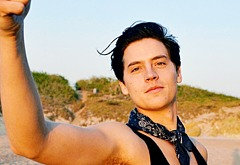 Cole Sprouse shirtless