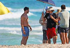 Jamie Dornan beach pics