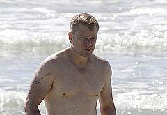 Matt Damon naked shots