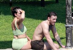 Conor McGregor sunbathing