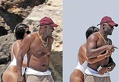 Idris Elba beach shirtless