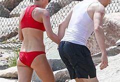 Tom Hiddleston shirtless beach