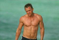 Daniel Craig sunbathing