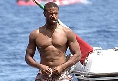 Michael B Jordan shirtless beach