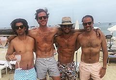 Armie Hammer shirtless beach pics