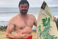 Karl Urban hacked shirtless selfie