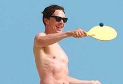 Benedict Cumberbatch naked on a beach