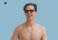 Benedict Cumberbatch shirtless