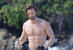 Patrick Schwarzenegger nude on beach