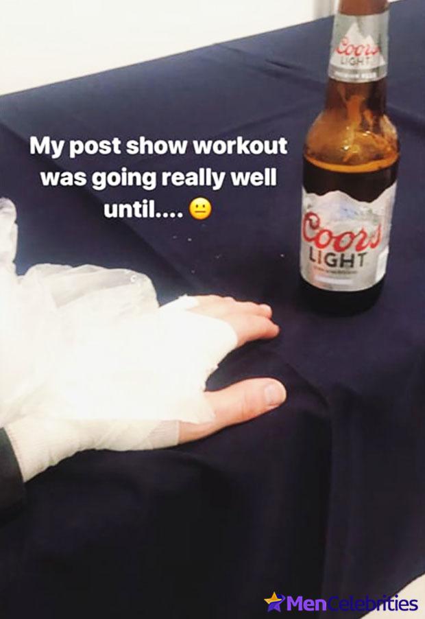 Nick Jonas injured