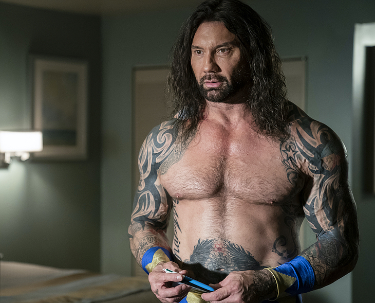 Dave Bautista frontal nude video