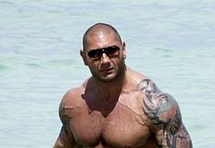 Dave Bautista bulge beach