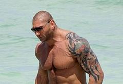 Dave Bautista shirtless beach