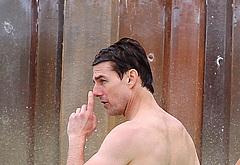 Tom Cruise shirtless