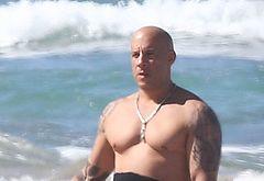 Vin Diesel beach pics