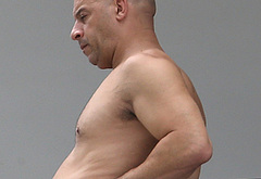 Vin Diesel caught shirtless