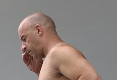 Vin Diesel sunbathing