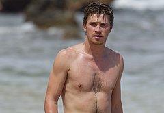 Garrett Hedlund shirtless beach photos