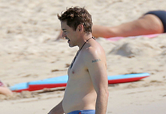 Robert Downey Jr nude on beach