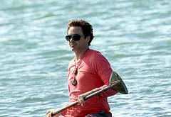 Robert Downey Jr paparazzi beach