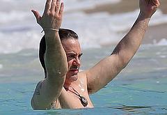 Robert Downey Jr sexy beach