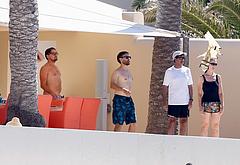 Tobey Maguire sunbathing