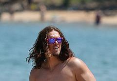 Steve Howey naked on beach