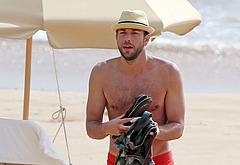 Zachary Levi shirtless