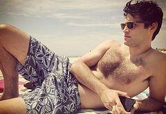 Matthew Daddario shirtless beach pics