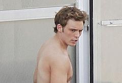 Sam Claflin caught naked