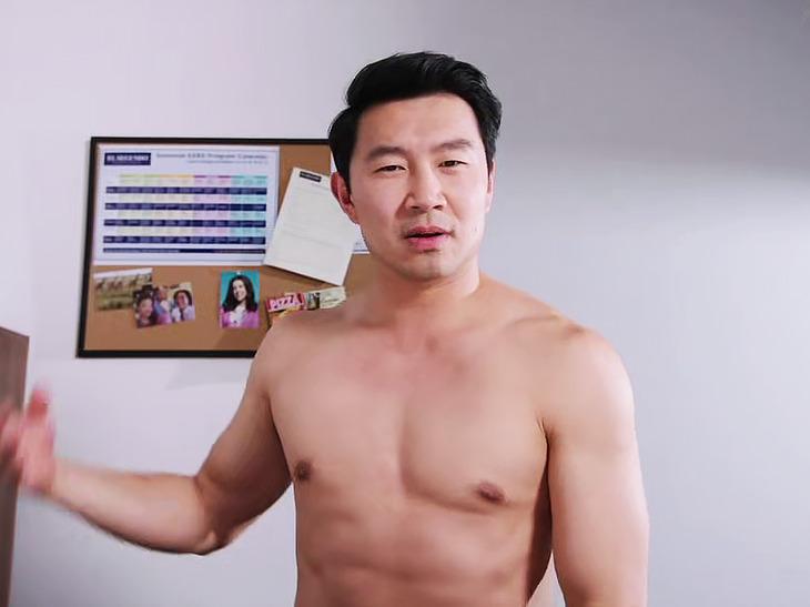 Simu Liu striptease