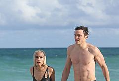 Karl Glusman shirtless beach pics