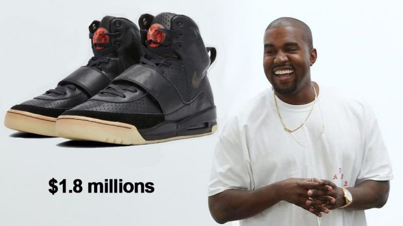 $ 1.8 million for sneakers? This is possible if you are Kanye West and these are your 'Grammy Worn' shoes